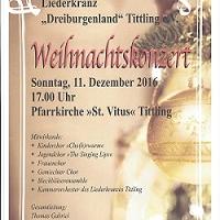 Weihnachtskonzert des Liederkranzes Dreiburgenland